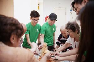 jinyang & charles with seniors