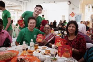 roland & darren with indian seniors
